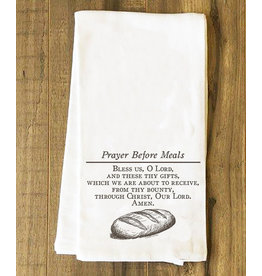 Catholic to the Max Prayer Before Meals Tea Towel