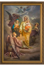 Nelson Fine Art Joseph, Patron of the Church - Standard Gold Framed Art