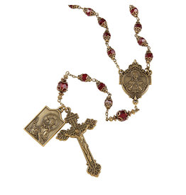 Christian Brands Creed Sacred Heart Vintage Rosary
