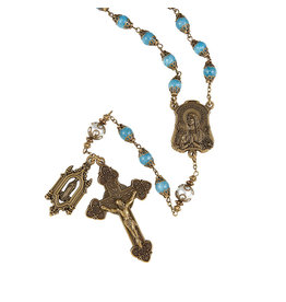 Christian Brands Creed Our Lady Of Lourdes Vintage Rosary