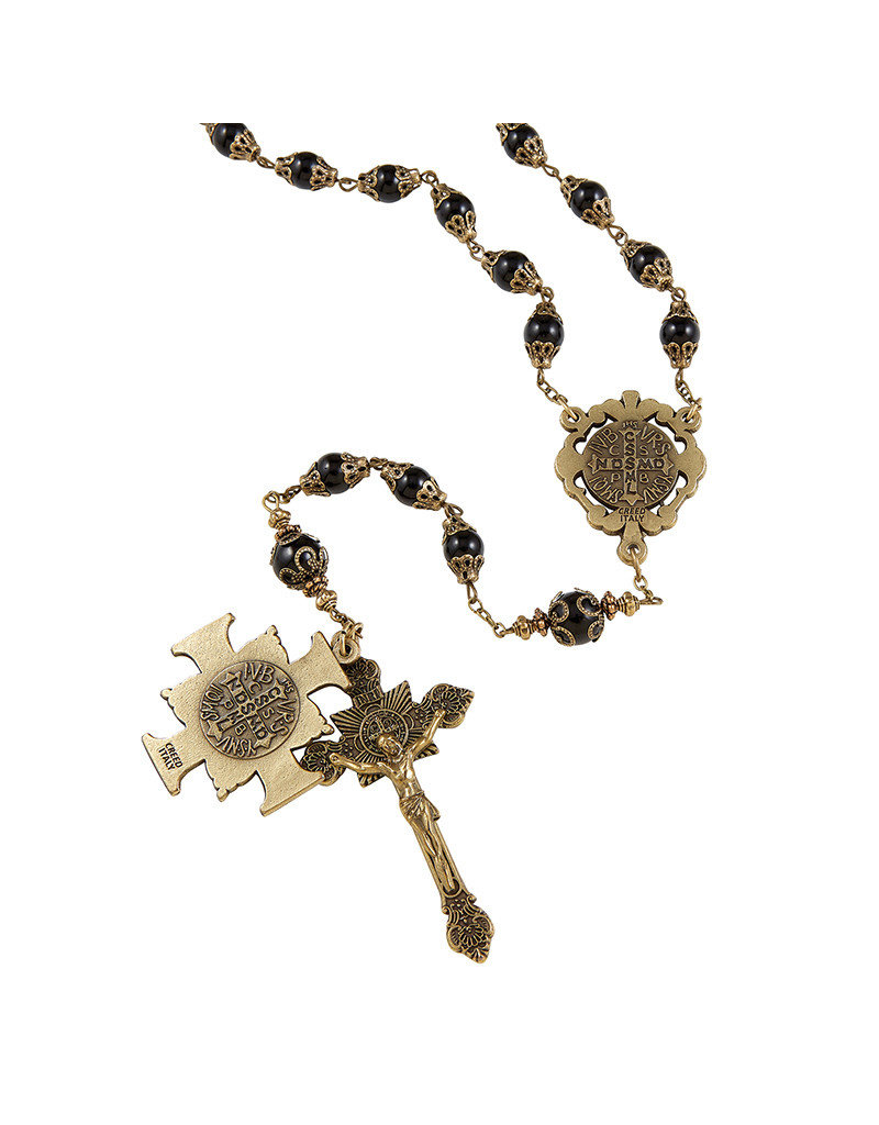 Christian Brands Creed Saint Benedict Vintage Rosary