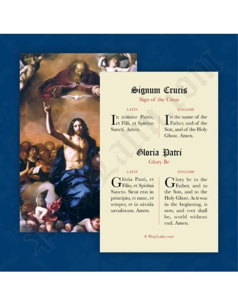 PrayLatin Sign of the Cross & Glory Be (Latin)