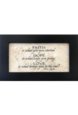 """Holy Land Stone """"Faith is what gets you started..."""" - quote from Mother Angelica"""