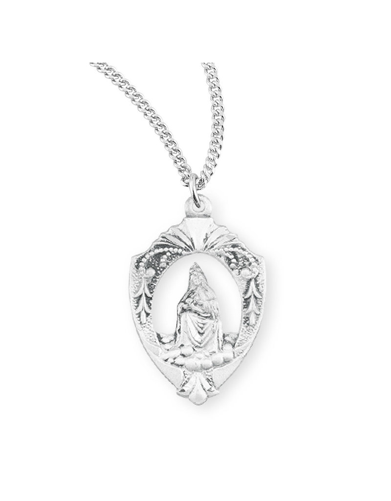 HMH Religious Our Lady of La Leche English Version Sterling Silver Medal