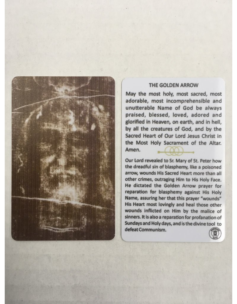 Memorare Gifts The Golden Arrow, Holy Face