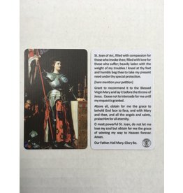 Memorare Gifts St. Joan of Arc Prayer Card