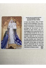 Memorare Gifts Prayer for the Beatification of the Servant of God, Mariana of Jesus Torres
