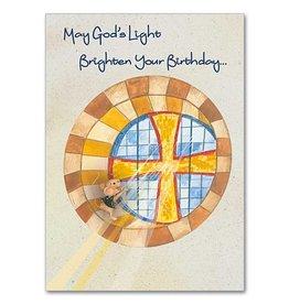 The Printery House Benny the Church Mouse Birthday Card Church Window