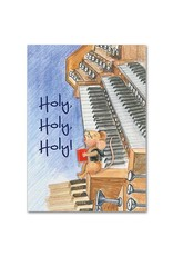The Printery House Benny the Church Mouse Birthday Card Piano