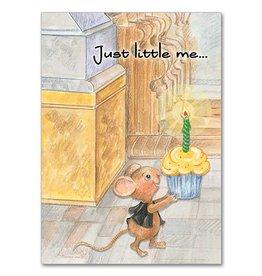 The Printery House Benny the Church Mouse Birthday Card Cupcake