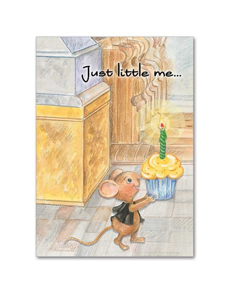 The Printery House Benny the Church Mouse Birthday Card Cupcake