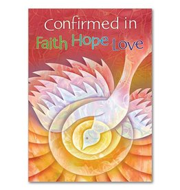 The Printery House Confirmed in Faith Hope Love Confirmation Card