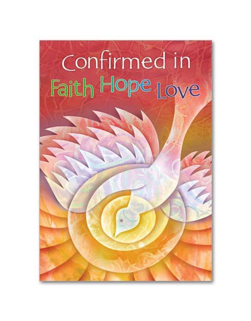 The Printery House Confirmed in Faith Hope Love Confirmation Card