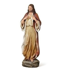 "St Joseph's Studio from Roman 13.75"" Sacred Heart of Jesus Statue"