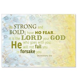 The Printery House Be Strong and Bold ChristianCare Inspirational Blank Card