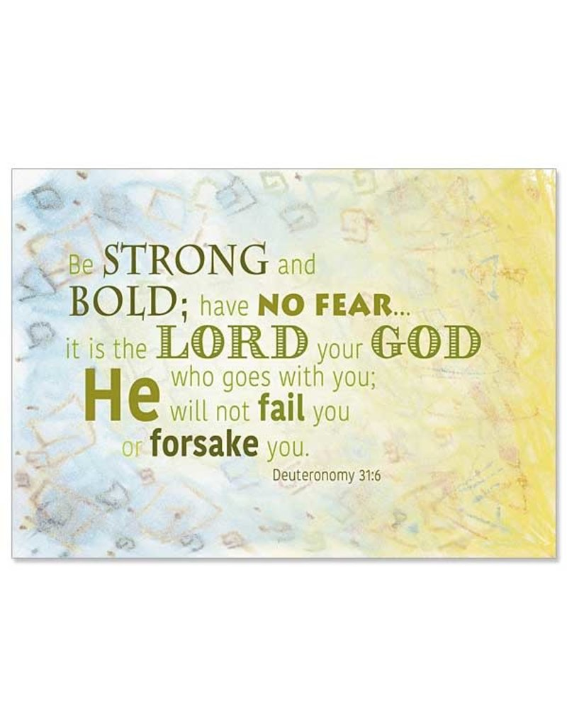 The Printery House Be Strong and Bold Christian Care Inspirational Blank Card