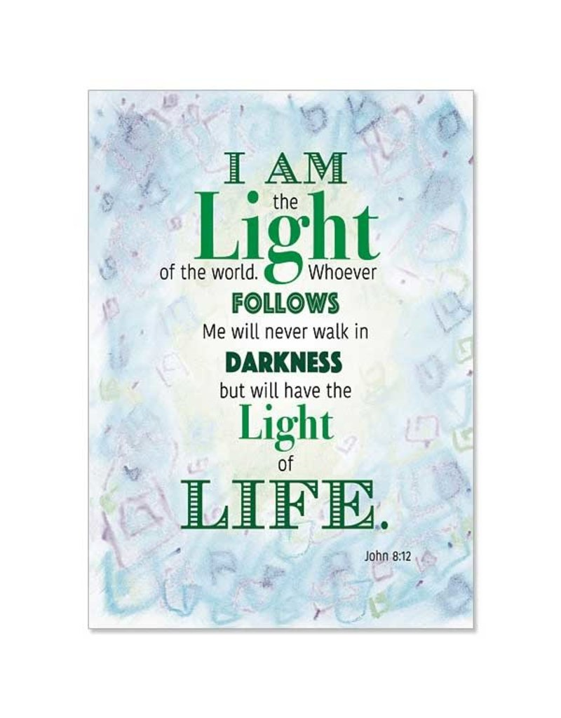 The Printery House I Am the Light of the World ChristianCare Inspirational Blank Card