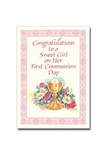 The Printery House Congratulations to a Sweet Girl... First Communion Card (Girl)