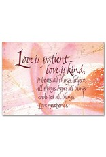 The Printery House Love is Patient Inspirational Blank Card