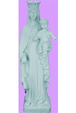 """Space Age Plastics Our Lady of Mount Carmel 24"""" Granite Finish Outdoor Statue"""