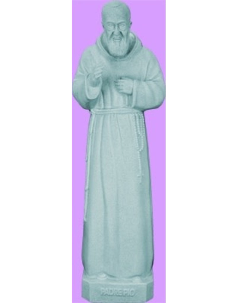 "Space Age Plastics 24""  Padre Pio - Granite Finish"