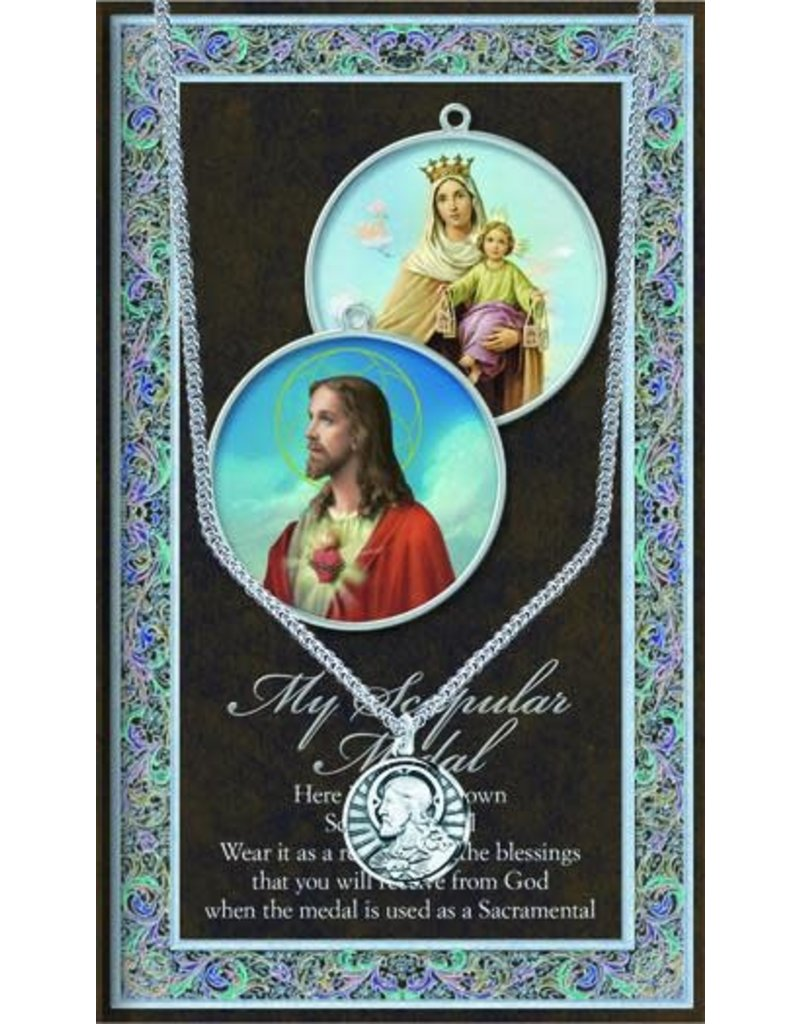 WJ Hirten Scapular Necklace & Chain with Picture Folder