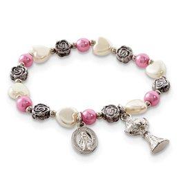 Creed First Communion Rose Bracelet GM22981