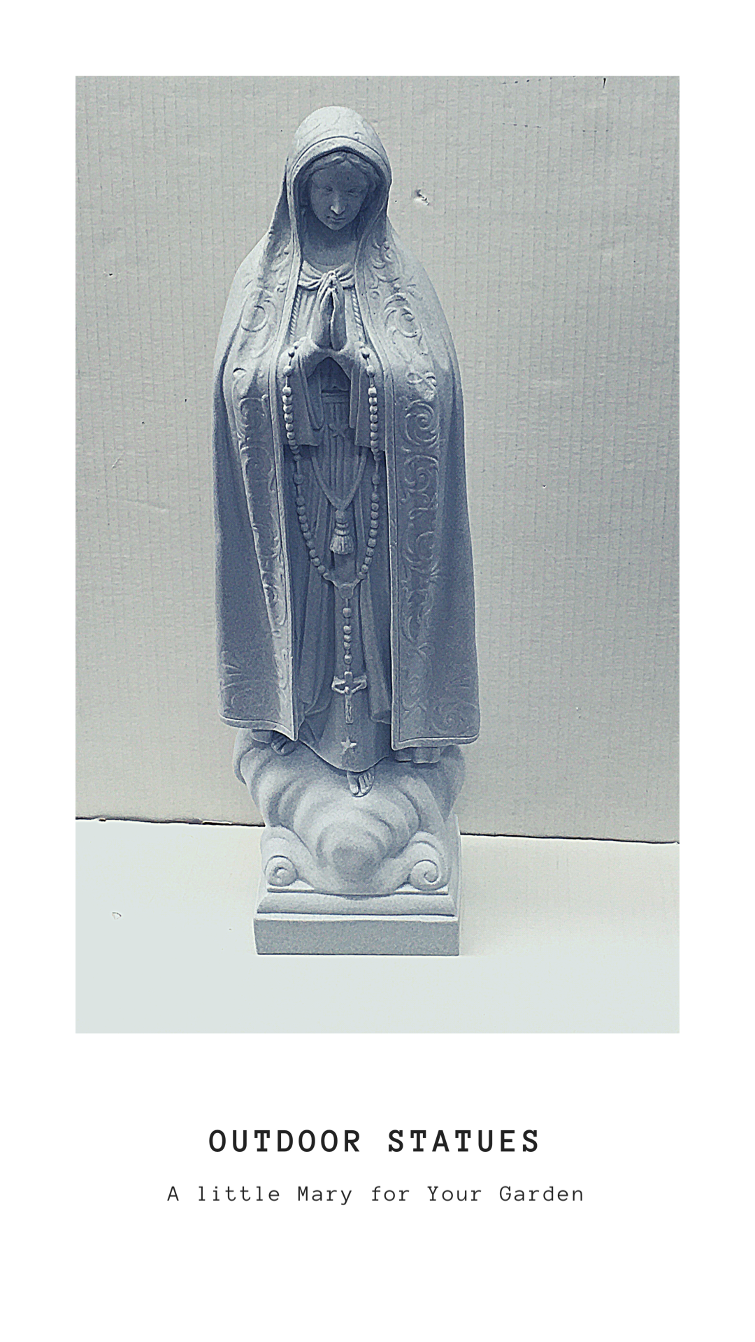 Outdoor Statues: A Little Mary for Your Garden