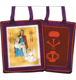 Fiat Imports Purple Scapular for Benediction and Protection with Cross