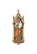 """Roman, Inc 7.75"""" Saint Joseph Water Font Renaissance Collection"""