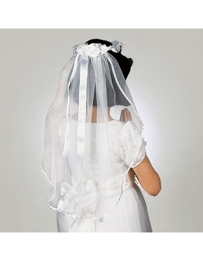"Roman, Inc 29""L Wendy Halo Communion Veil Bow with Wreath"