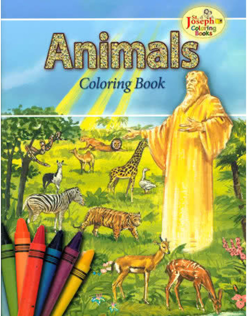 Catholic Book Publishing Corp Animals Coloring Book For Children