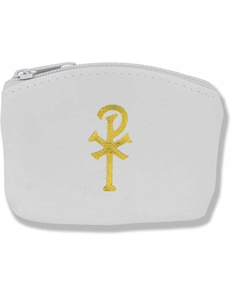 White or Black Pouch With Rosary