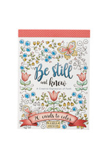 Christian Art Gifts Coloring Cards-Be Still and Know