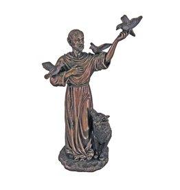 Goldscheider of Vienna 11'' St. Francis with Animals Statue