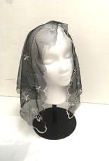 St. Stephen's Spanish Mantilla Veil Rosa White/Black