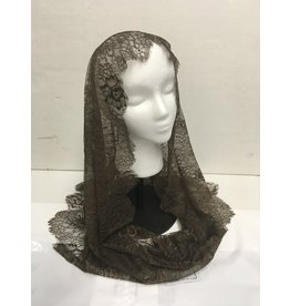 St. Stephen's Spanish Mantilla Veil Infinity Francisca Dark Coffee