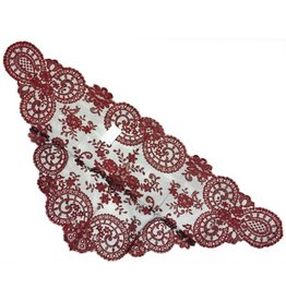 St. Stephen's Spanish Mantilla Veil Cherry and Black