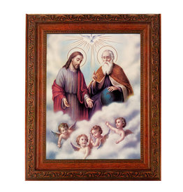 "10"" X 12"" The Trinity In Ornate Wood Frame"