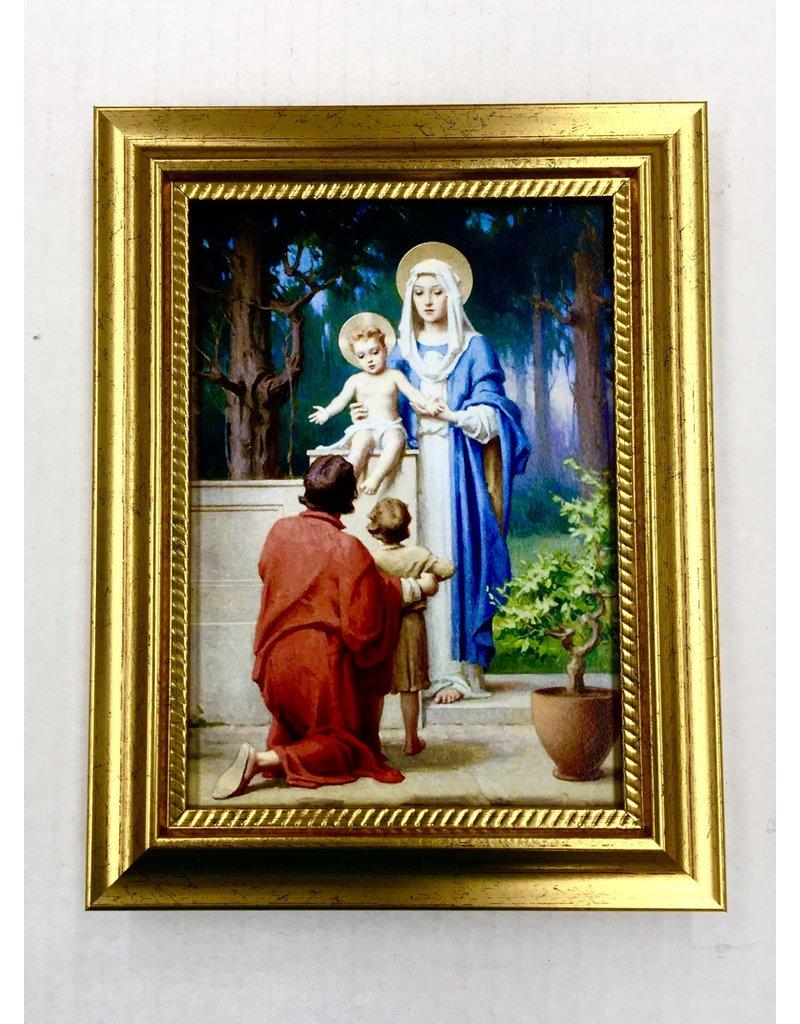"""WJ Hirten Holy Family w/St John The Baptist Framed Art 5""""x7"""""""