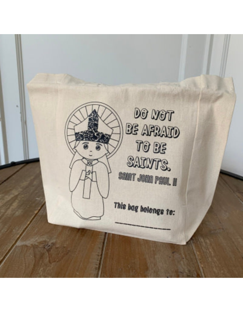 "Meyer Market Designs Canvas Tote Bag: ""Do Not Be Afraid To Be Saints"" - St. John Paul II"