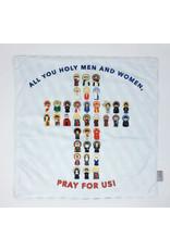 Meyer Market Designs Holy Men and Women Pray for Us Soft Lovey Blanket