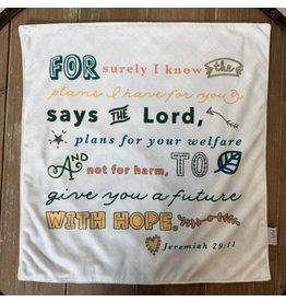Meyer Market Designs I Know the Plans I Have for You Soft Lovey Blanket