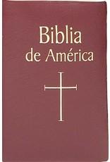 Catholic Book Publishing Corp Span-LBDA Bible Of America (Biblia De America)-Burgundy Imitation Leather