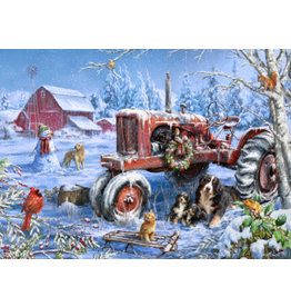 Vermont Christmas Company Christmas on the Farm Jigsaw Puzzle