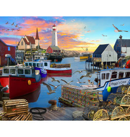 Vermont Christmas Company Fishing Cove Jigsaw Puzzle