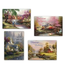 Day Spring Card-Boxed-Birthday-Thomas Kinkade (Box Of 12)