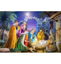 Vermont Christmas Company Jigsaw Puzzle-Joyous Night (100 Pieces)