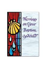 The Printery House Blessings on Your Baptism Godchild Baptism Greeting Card