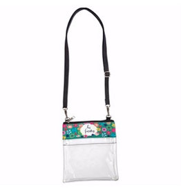 "BrownlowGift Crossbody Bag-Clear-Be Fearless (7"" x 7.75"")"